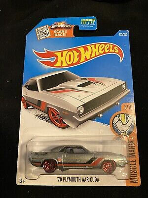 2016 HOT WHEELS MUSCLE MANIA 5/10 '70 PLYMOUTH AAR CUDA ZAMAC Mainline Near Mint