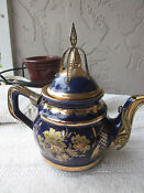 Teapot Blue Gold