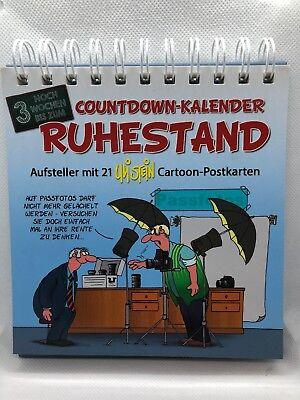 Uli Stein Countdown Kalender RUHESTAND mit 21 Cartoon-Postkarten *neu* 👵🏼👴🏻 (Stand Kalender)