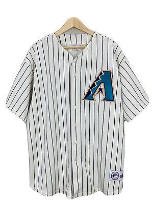 Vintage Arizona Diamondbacks Pinstripe Majestic Jersey Sz XXL