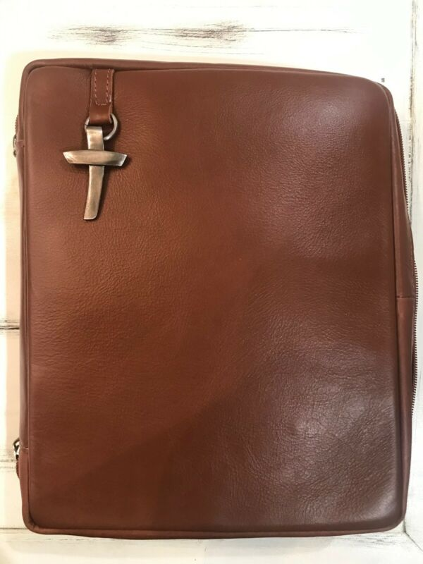 Genuine Leather Bible Cover - Brown