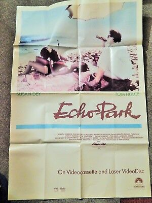 ECHO PARK (VIDEO DEALER 40 X 27 POSTER!, 1980S) SUSAN DEY, TOM HULCE, M BOWEN