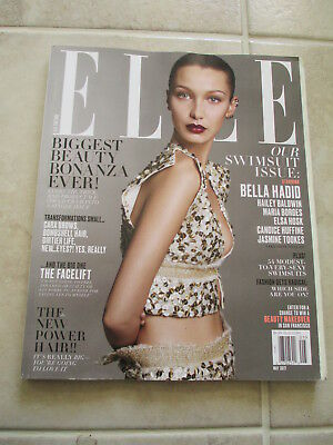 Elle US Edition Magazine Bella Hadid Cover May 2017 Issue