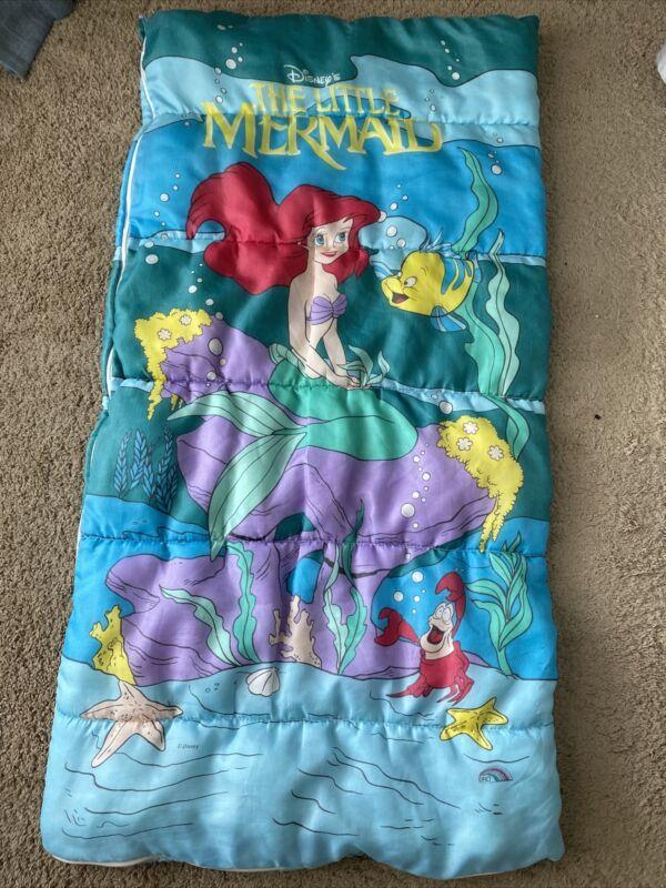Disney The Little Mermaid Childs Sleeping Bag Vintage 1990