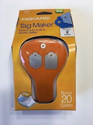 *NEW* Fiskars Punch Craft Tag Maker Standard/Scallop, Bonus 20 Eyelets, 197660 Fiskars Craft Punch