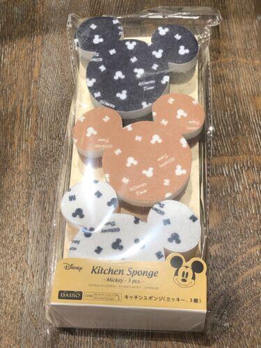 Disney Mickey Mouse Sponge Set 3Pcs Kitchen item New From Ja