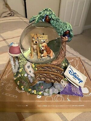Walt Disney Lady And The Tramp Globe Musical Lights Bella Notte Working!