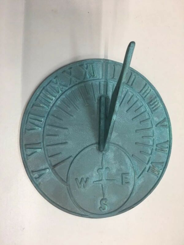 Vintage Solid Brass Sundial Maritime Sun Dial Metal Decor Art Garden Nautical