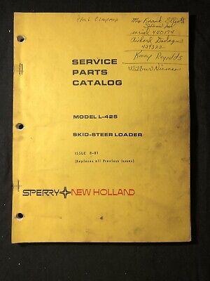 New Holland Service Parts Catalog L-425 Skid Steer Loader 564