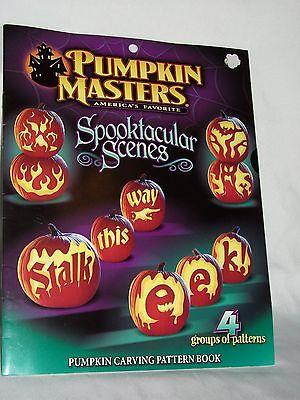 Halloween Pumpkin Masters Spooktacular Scene Carving Pattern Book Jack-O-Lantern](Halloween Scene Pumpkin Carving Pattern)