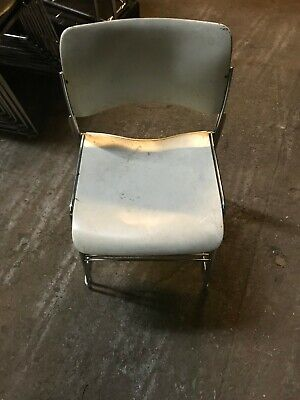 Lot Of 3 -used Corcraft Stacking Chairs All Metal - 77 Available Sold In Lots