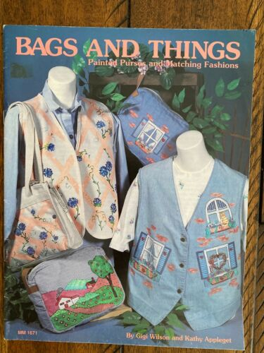 Bags and Things, Painted Purses & Matching Fashions painting booklet, leaflet