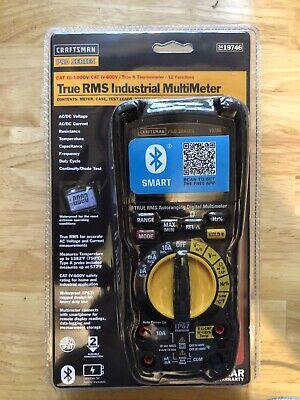 Craftsman Pro Series 12 Function Category Iii-iv True Rms Industrial Multimeter