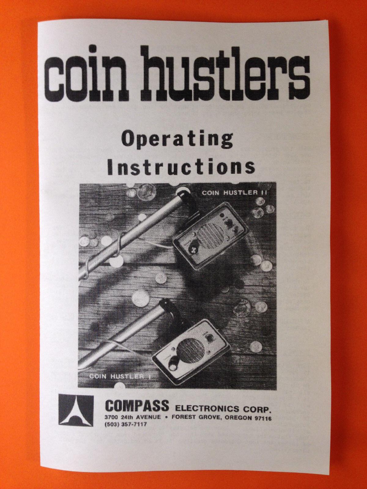 Compass Metal Detector Operating Instruction Coin Hustler I & II Treasure Finder