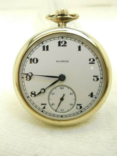 """VINTAGE,ILLINOIS,OPEN FACE, POCKET WATCH,17J,(1919),WW I, COMMERATIVE,""""OUR BOYS"""