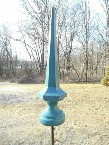 """48"""" Verdigris Steel Finial spire roof top or yard sculpture- FREE SHIPPING!"""