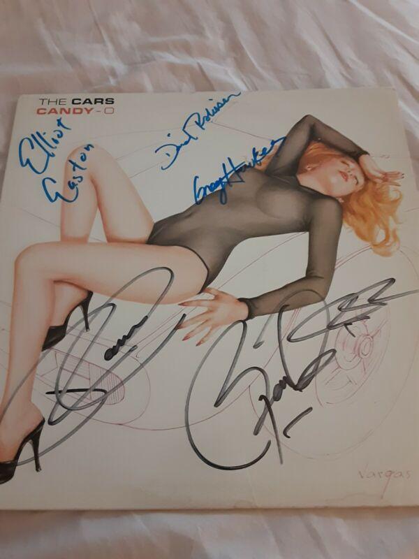The Cars Autographed Album Whole Band RARE