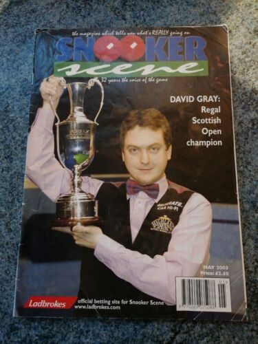 Snooker Scene Magazine May 2003 Used Condition.