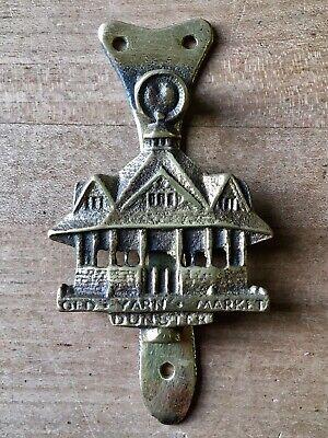 Vintage Brass Door Knocker Small Old Yarn Market Dunster Cast Brass
