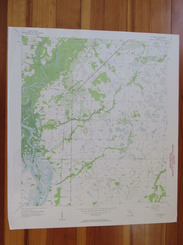Fort Ogden Florida 1957 Original Vintage USGS Topo Map