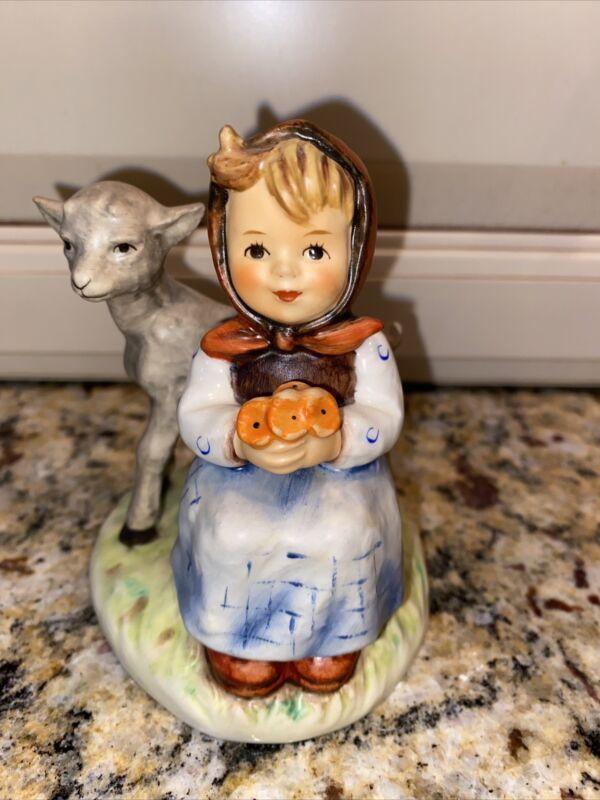 "Vintage  Goebel Hummell ""Good Friends""  #182 girl with lamb,  mint"