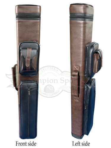 Champion Instroke Leather Cue Cases 4x6 Holds 4 butts and 6 shafts pool cue