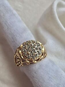10K Cluster Diamond ring