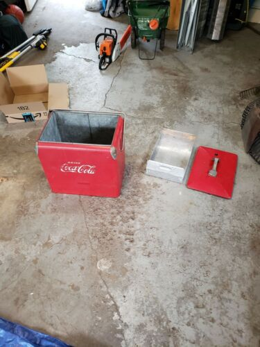 Vintage 1950s Coca Cola Cooler ACTON Antique Coke w/Bottle Opener