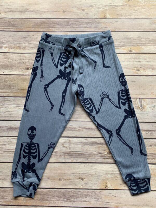 Mini Rodini Skeleton Jersey Trousers, 92-98 Cm