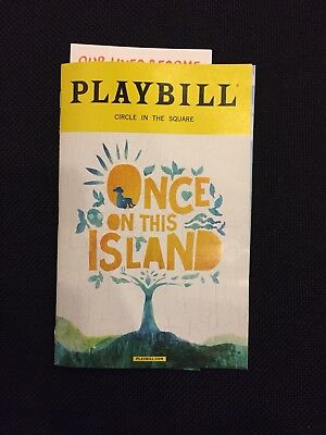 ONCE ON THIS ISLAND 2017 Revival Playbill Broadway Circle in the Square