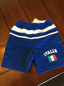 Italy Italia boys girls gym or soccer shorts size 4