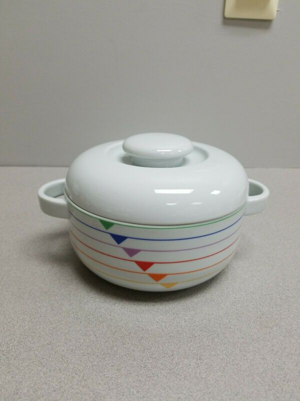 Vintage Harmony Block Covered Casserole Vista Alegre by Jack Prince
