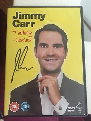 Jimmy Carr Signed telling jokes dvd