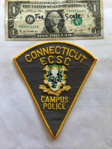Rare ECSC Connecticut Campus Police Patch Un-sewn great shape