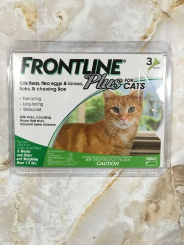 Frontline Plus for Cats & Kittens Flea & Tick Treatment over 1.5lb 3 Doses #7407