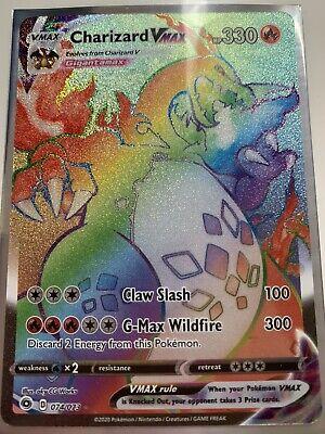 Rainbow Charizard VMAX 74/73 Rare Pokemon Card 074/073 PACK FRESH MINT ✅
