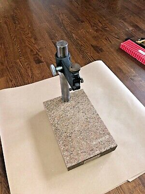 Starrett Granite Surface Plate Indicator Stand 12 X 8 X 2 14overall Height