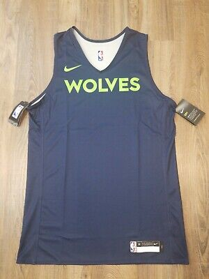 Authentic Team Issued Nike Timberwolves Practice Jersey Sz M Tall 44  NWT RARE!