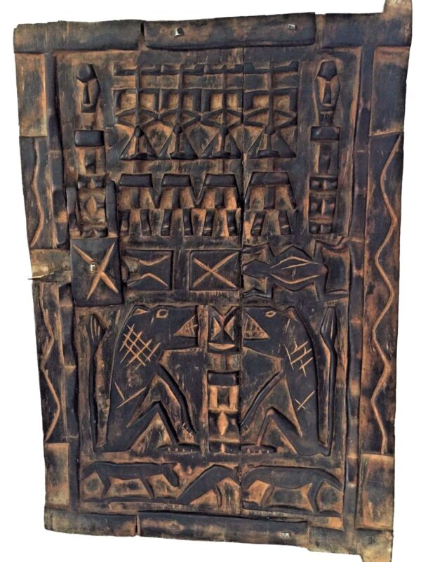 """Superb Dogon Door  Mali African 23.75 """"h by 16.5"""" w"""