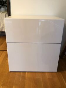 Ikea besta cabinet nightstand table two drawer