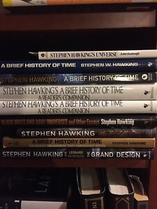 Stephen Hawking books for sale..