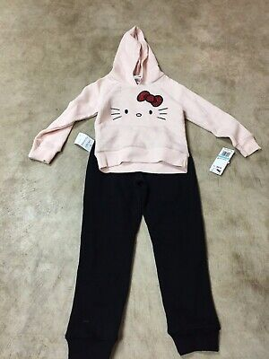 Hello Kitty Toddler Outfit (new girls toddler 2 piece outfit super soft hello kitty hoodie pants)