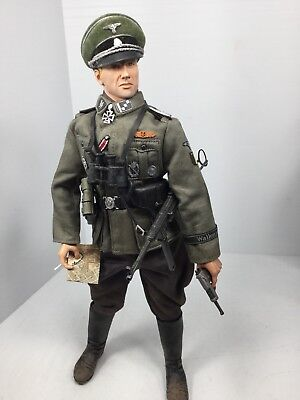 Used, 1/6 DRAGON GERMAN 28TH SS DIV LT OFFICER MP-40 SMG+P-38 RUSSIA BBI DID 21 WW2 for sale  Wirtz