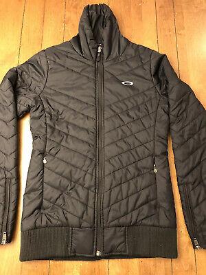 Womens Oakley Puffer Jacket XS Black Ski Snowboard