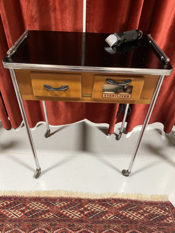 Vintage antique 1920s and 1930s PAIDAR  barber table/sterilizer cabinet