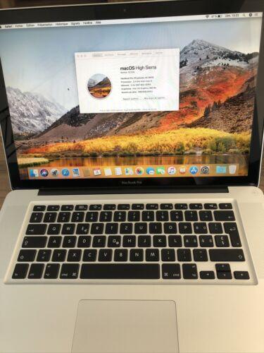 """Macbook pro 15,4"""", année 2010 (500 go hdd- ssd, core i5, 2,4 ghz, 4 go de ram"""