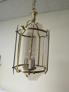 Hanging Brass Light Fixture