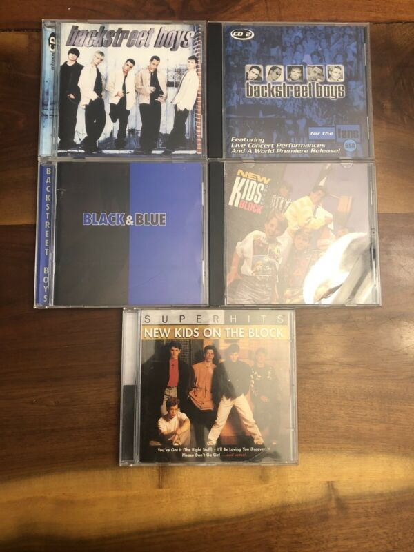 Lot Of Backstreet Boys and New Kids On The Block CDs