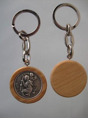 St.Christopher Keyring No. 2054/1 Wood Look for Car Keys