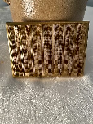 Vintage Art Deco Evans Gold Tone Cigarette/ Business Card Case